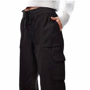 Aritzia Community black Cotton drawstring pants